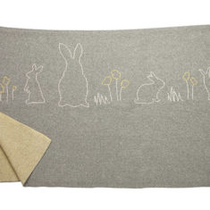 Babu Cotton Blanket Grey Bunny
