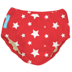CB Swim Nappy White Stars on Red