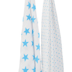 classic swaddle 2 packs fluro blue hanging