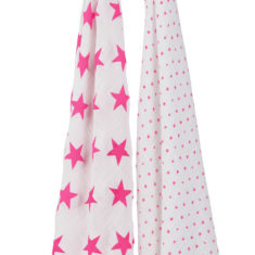 classic swaddle 2 pack fluro pink hanging
